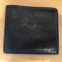 Navy blue leather bi-fold wallet Washington, 20011