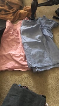 Off the shoulder blue and pink shirts for a gender reveal Size fits all Newport News, 23607