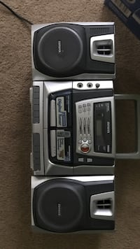 Grey Aiwa home theater system