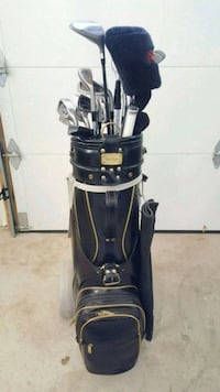 blue and black golf bag with golf clubs Vaughan, L4H 0X9