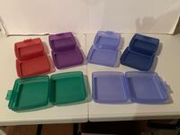 6 pc Tupperware Sandwich containers Hummelstown, 17036