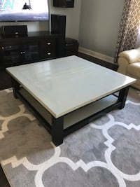 Oversized coffee table, square, farmhouse design