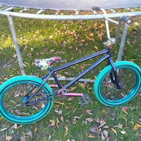 blue and green BMX bike Troy, 12182