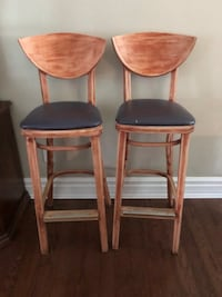 Pair of Mid Century Modern Solid Wood Stools Markham, L3P 3L9