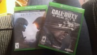Xbox One Halo 5 & Call of Duty Ghosts games  Mississauga, L4Z 1H7