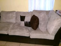 gray and black suede 2-seat sofa Haines City, 33844