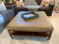 Square Leather Upholstery Center Table Irvine