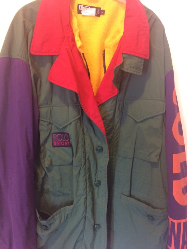 4eaa5d237f78f VINTAGE POLO RALPH LAUREN POLO SPORT COLD WAVE JACKET MENS SIZE LARGE