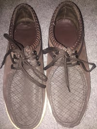pair of gray leather sandals Calgary, T2W 4C1