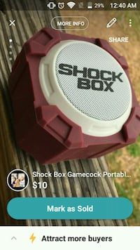 Gamecocks Portable Speaker (Shock Box) Abbeville, 29620