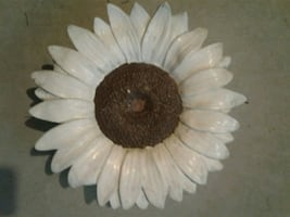 ceramic sunflower. wall mount