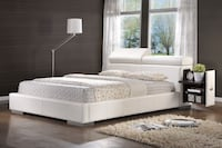 Leatherette Upholstered Bed with Pull-Out Drawer Hacienda Heights, 91745