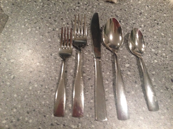 stainless steel fork, spoon and butter knife e213d2d6-f464-4a57-8078-7d2d452d38c2