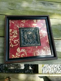 red and black wooden framed painting of flowers Greenville