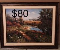 brown wooden framed painting of house Chesterfield, 23832
