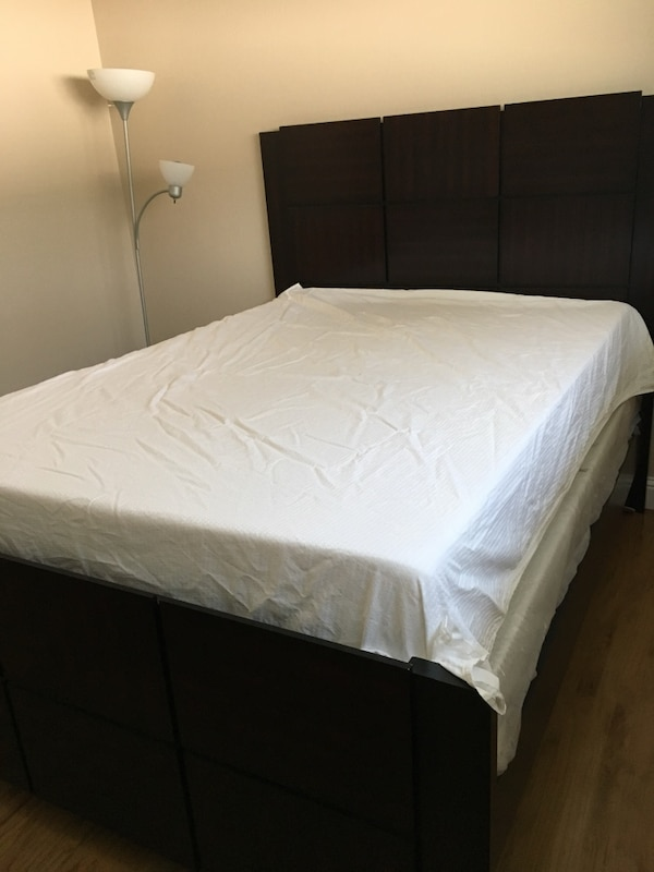 Used Queen Size Bed Frame Mattresses Not Included For Sale In