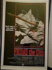 Friday the 13th poster Bunker Hill, 25413