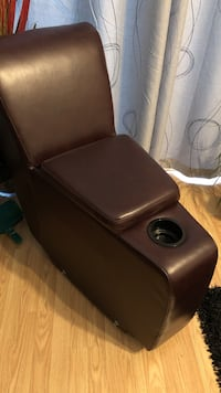 End sofa with cup holder, Faux Leather Port Coquitlam, V3B 1Z6