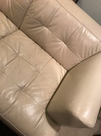 white leather 3-seat sofa Woodbridge, 22192