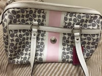 Pink and gray Coach purse Milton