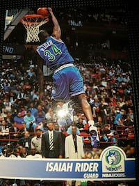 Isaiah Rider trading card Suffolk, 23434