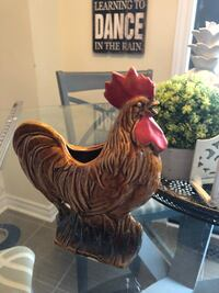 VINTAGE MCCOY USA ROSTER CHICKEN PLANTER POTTERY Courtice, L1E 0H5