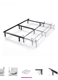Adjustable metal bed frame queen full twin size new box
