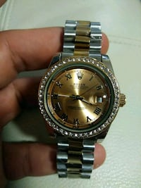 round silver-colored Rolex analog watch with link bracelet Medford, 02155