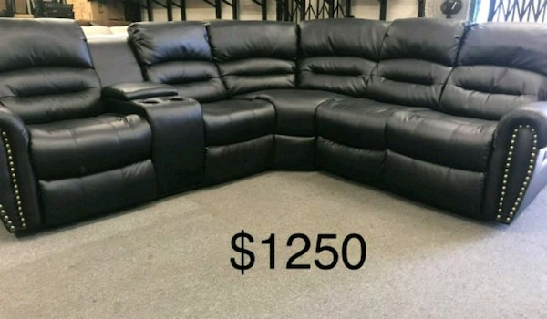 Brilliant New Leather Rexliner Sectional Couch 50 Down Pay Ibusinesslaw Wood Chair Design Ideas Ibusinesslaworg