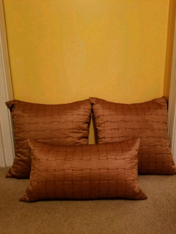 Like New! Bronze Down Filled Pillows  12909f59-55c5-4b4e-ae51-f67bd0bbe769