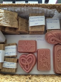 Natural soap. Made with coconut oil-sweet almond oil-castor oil- jasmine oil and essential oils  Montréal, H4E 1K5