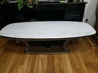 oval white wooden coffee table New York, 11414