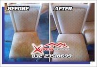 two gray and white fabric sofa chairs Houston, 77074