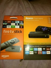 two Amazon Fire TV stick boxes Quincy, 02169