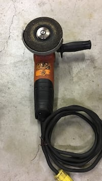 black and orange corded angle grinder Central Okanagan, V1X 6L5