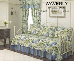 Waverly Floral Flourish 3-pc. Reversible Daybed Qu