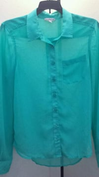 American Eagle Sheer Button Up
