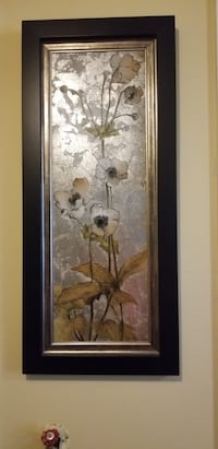 brown wooden framed painting of flowers 49 km