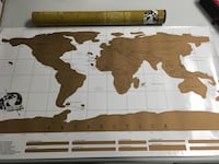 Brand new the world scratch off map