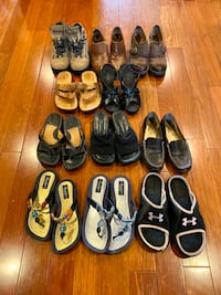 Lot. Of women's shoes 11 pairs total size 7 Selden, 11784