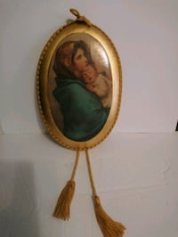 Italian Madonna on clay signed made in Italy
