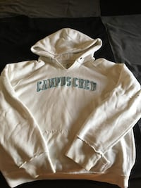 white Campus Crew pull-over hoodie London, N6E 1C2