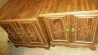 two brown wooden side tables Las Vegas, 89122