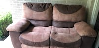 brown suede 2-seat sofa Dallas, 75207