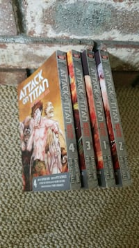 Attack on titan before the fall vol 1-4 Burnaby