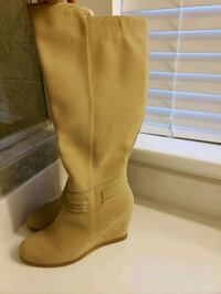 pair of brown suede knee-high boots Stafford, 22554