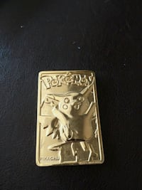 Pikachu 23k gold card collectable  (1999) Travelers Rest, 29690