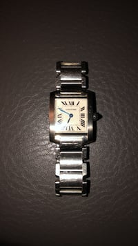 "Cartier ""Tank"" Classic Vintage White Gold/SS Ladies Wristwatch Toronto"