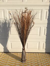 "Home Decor - Floral Straw/Dry Weed bundled approximately 58"" tall. Tans/Black/Cream Lansdowne"