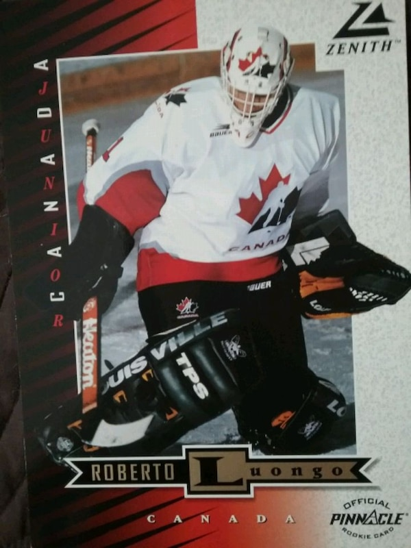Official 5x7 rookie card of  R. Luongo 8 available 27c064c1-bced-4bd8-a67a-9d8f7ffffc53